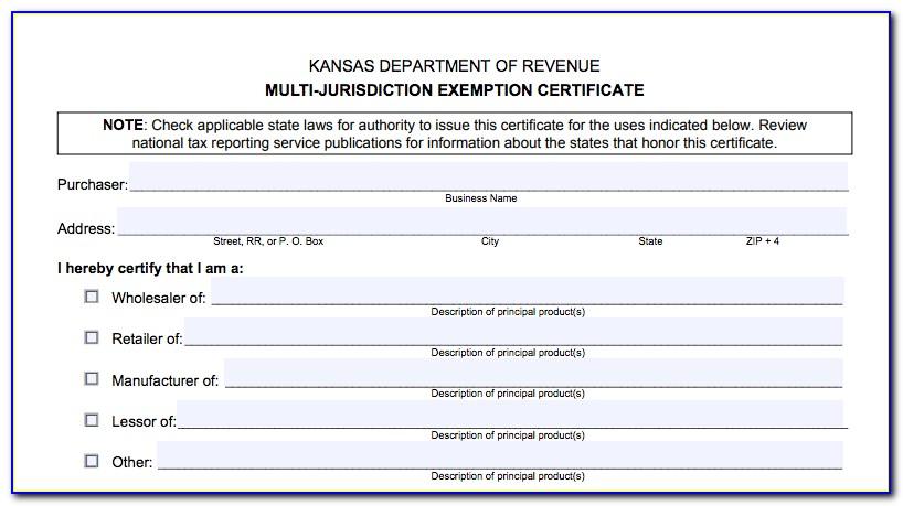 Kansas Resale Certificate Verification