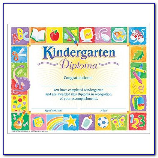Kindergarten Graduation Certificate Template Word