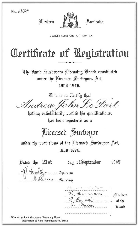 Land Surveyor Certification Florida