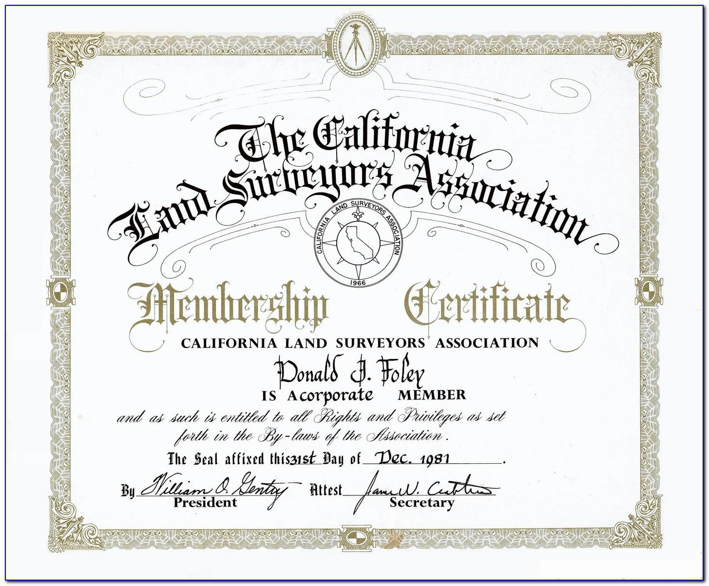 Land Surveyor Certification Texas