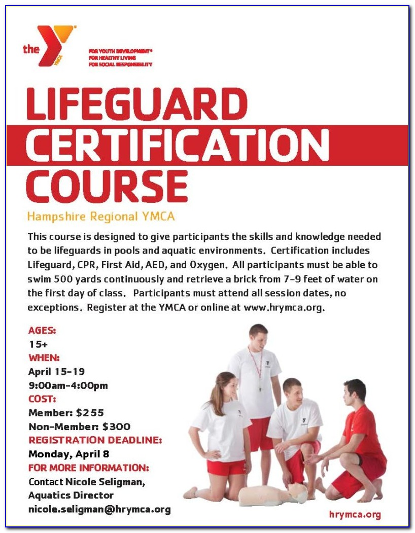 Lifeguard Certification Ct Ymca