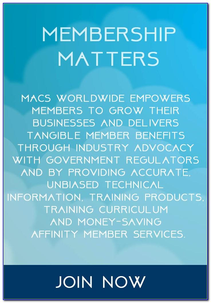 Macs 609 Certification Card