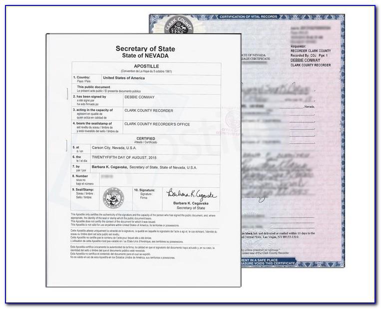Marriage Certificate Reno Nevada