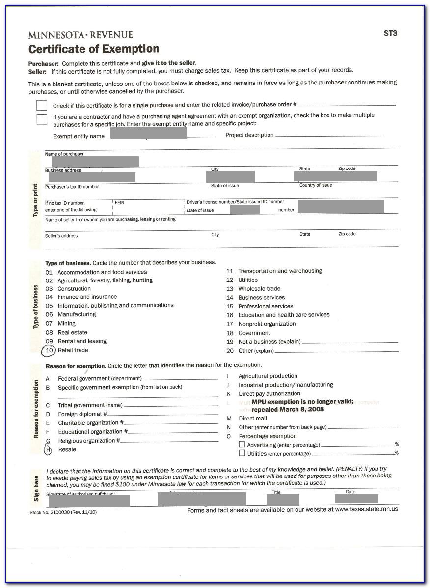 Massachusetts Contractors Sales Tax Exempt Purchase Certificate
