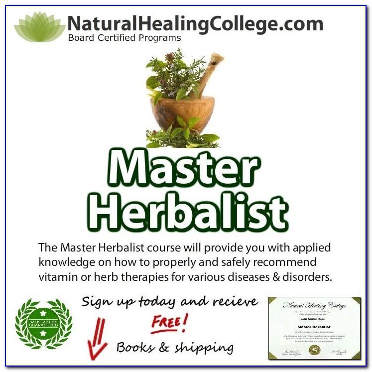 Master Herbalist Degree Online