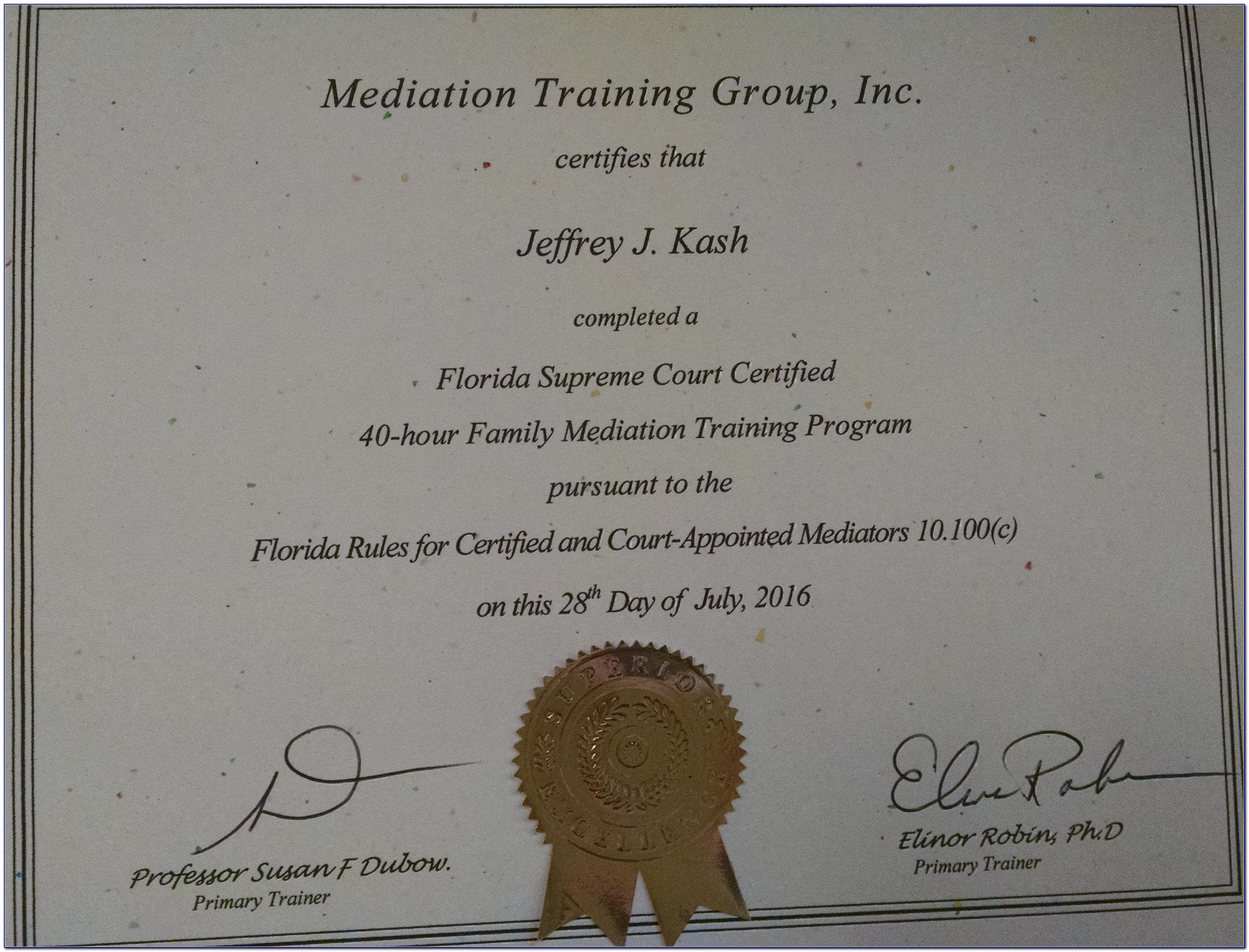 Mediation License Florida
