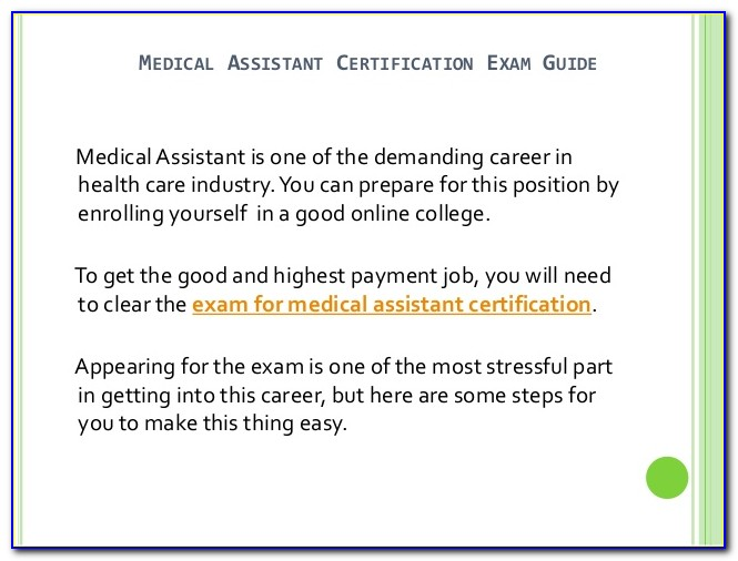 Medical Assistant Certification Study Guide For Free