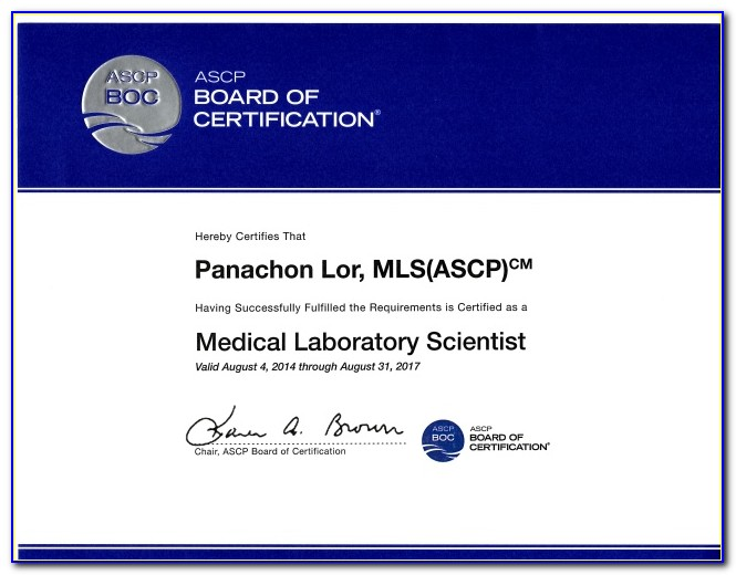 Mlt Ascp Certification Requirements
