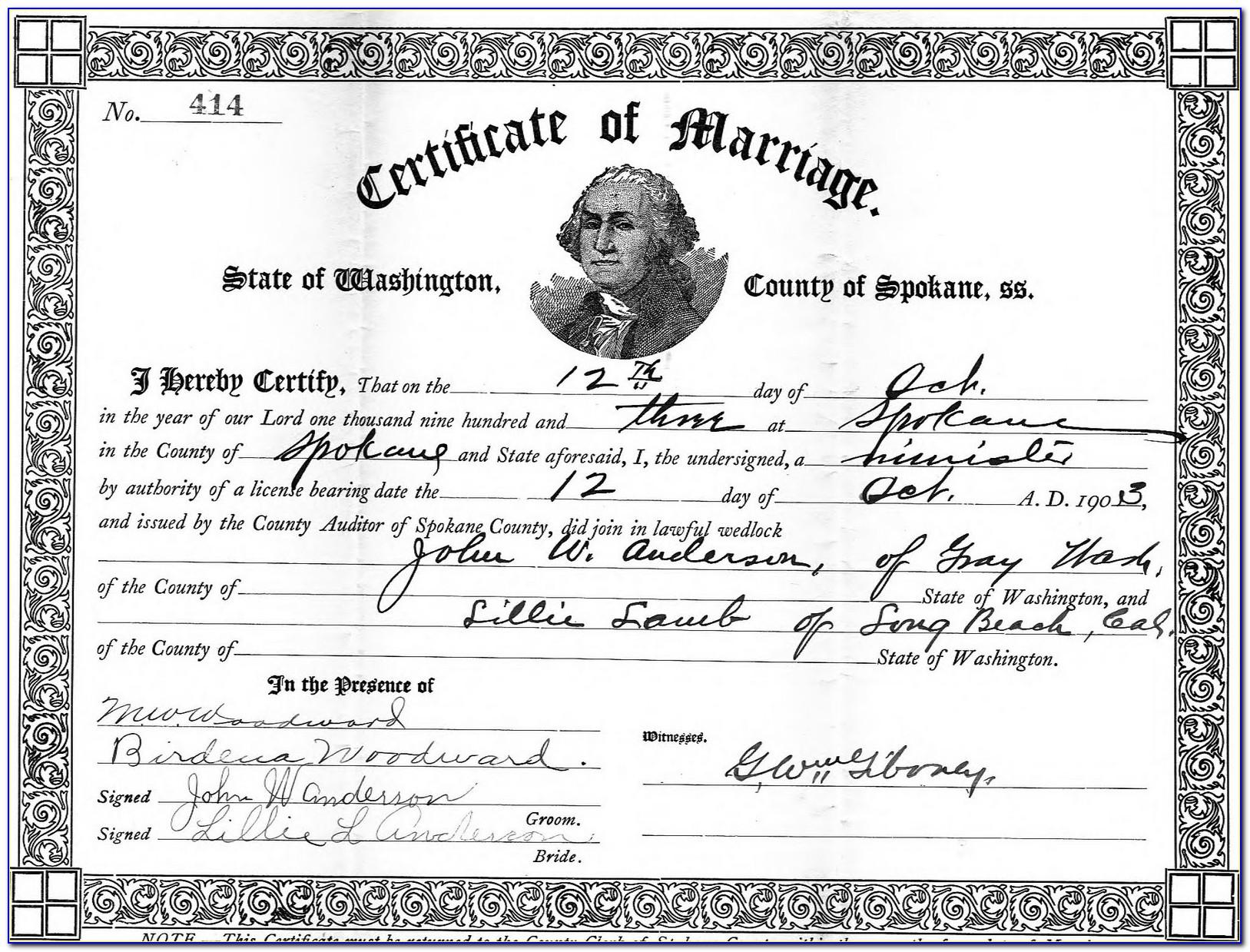 Monterey County Order Birth Certificate