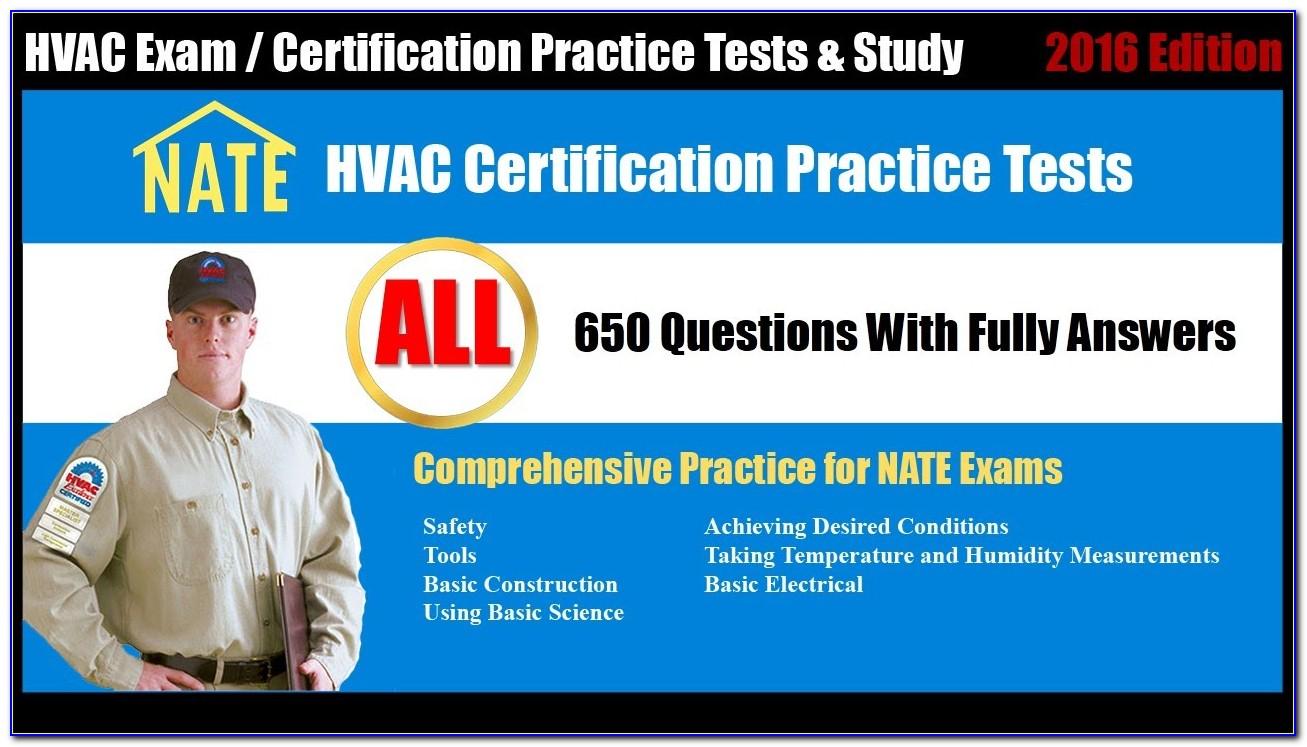 Nate Hvac Certification Practice Test