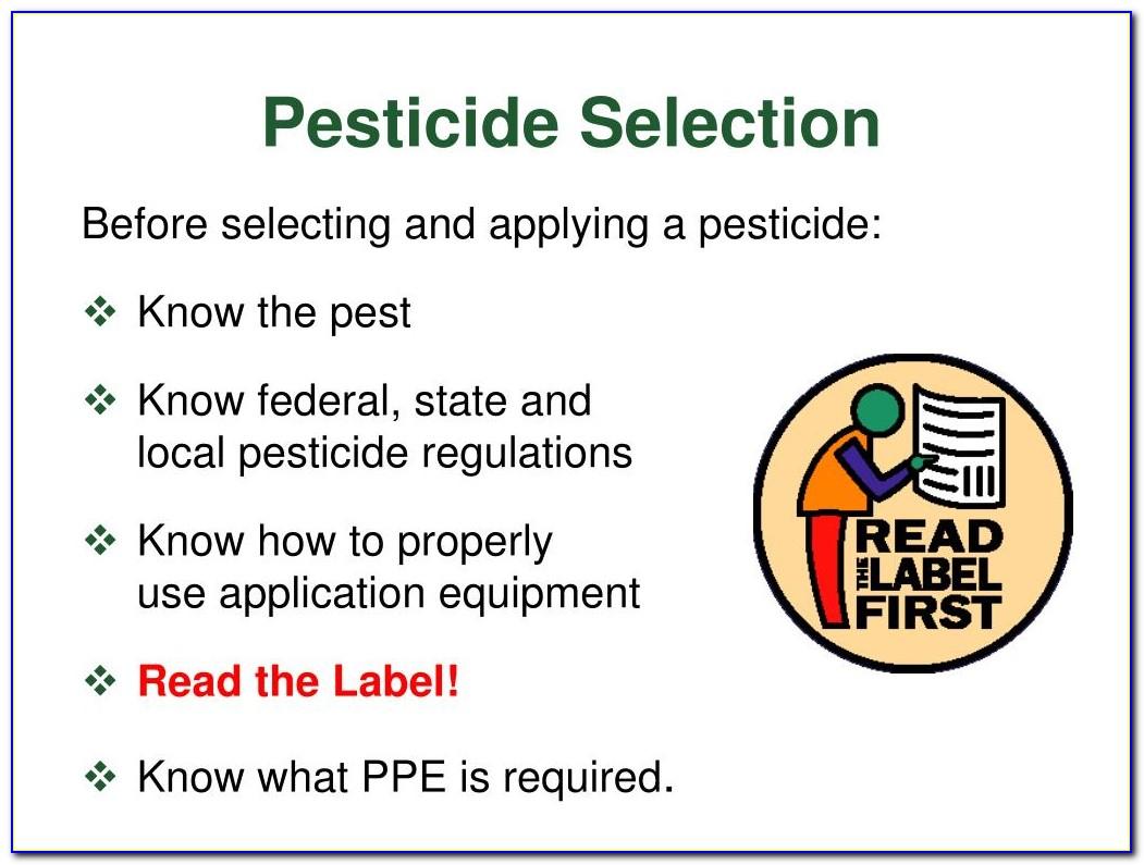 National Pesticide Applicator Certification Core Manual Quizlet