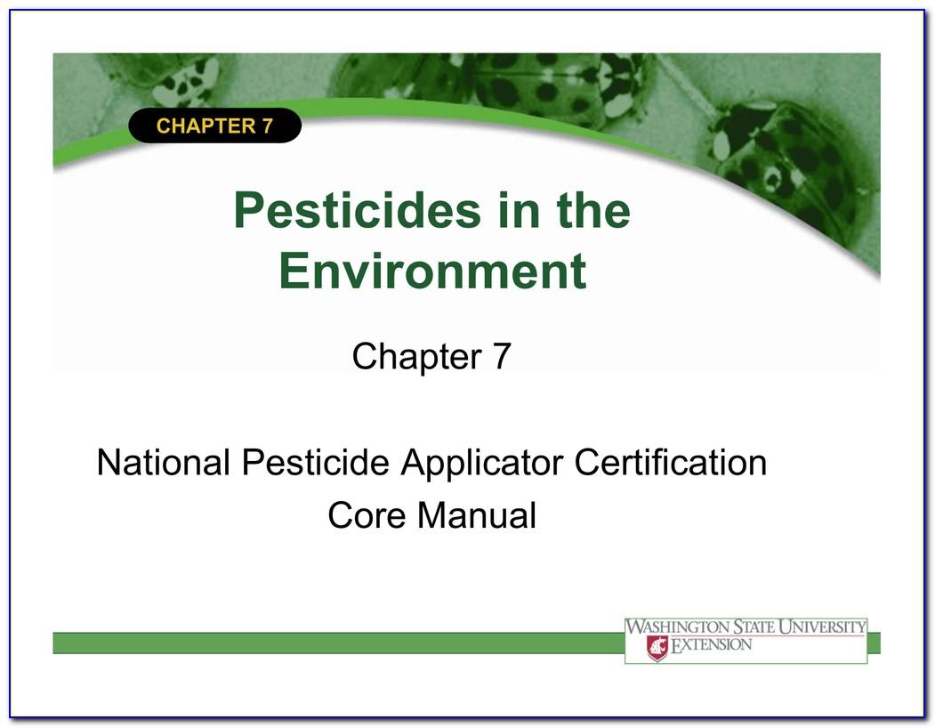 National Pesticide Applicator Certification Core Manual Second Edition 2014
