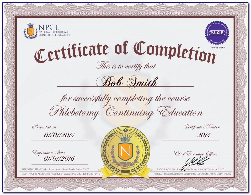 National Phlebotomy Certification Examination