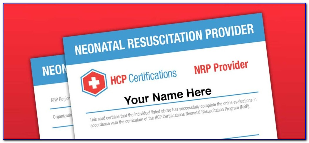 Neonatal Resuscitation Certification American Heart Association
