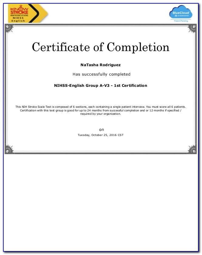 Nihss Certification Answers Group E