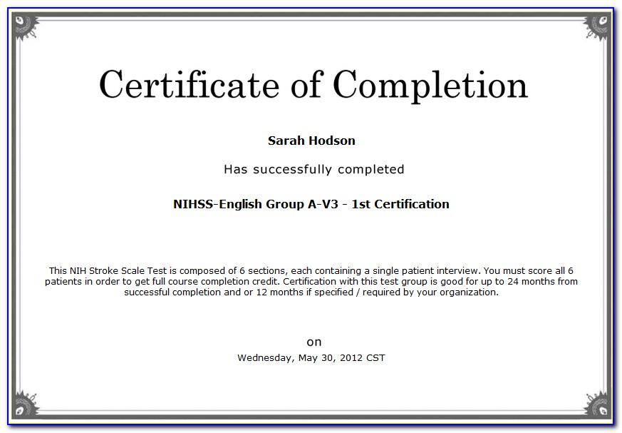Nihss Certification Test Answers Group C