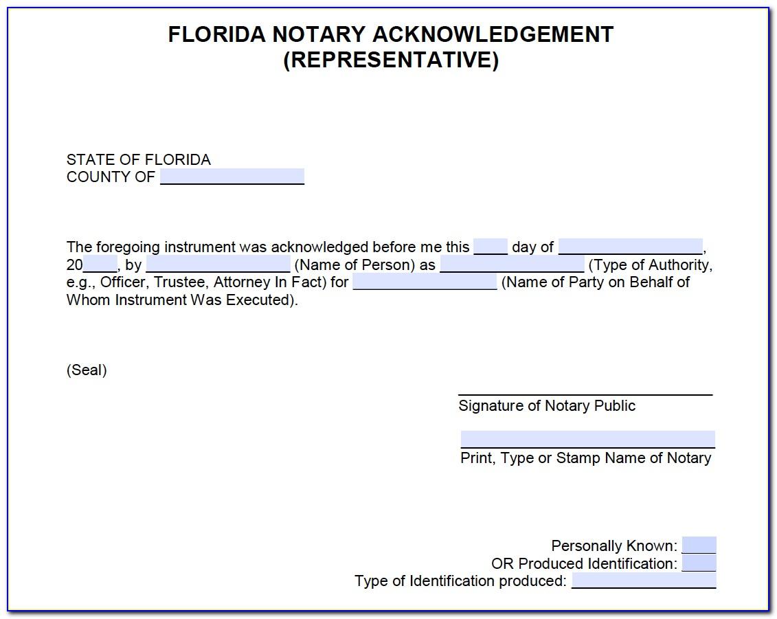 Notarial Certificate Fl