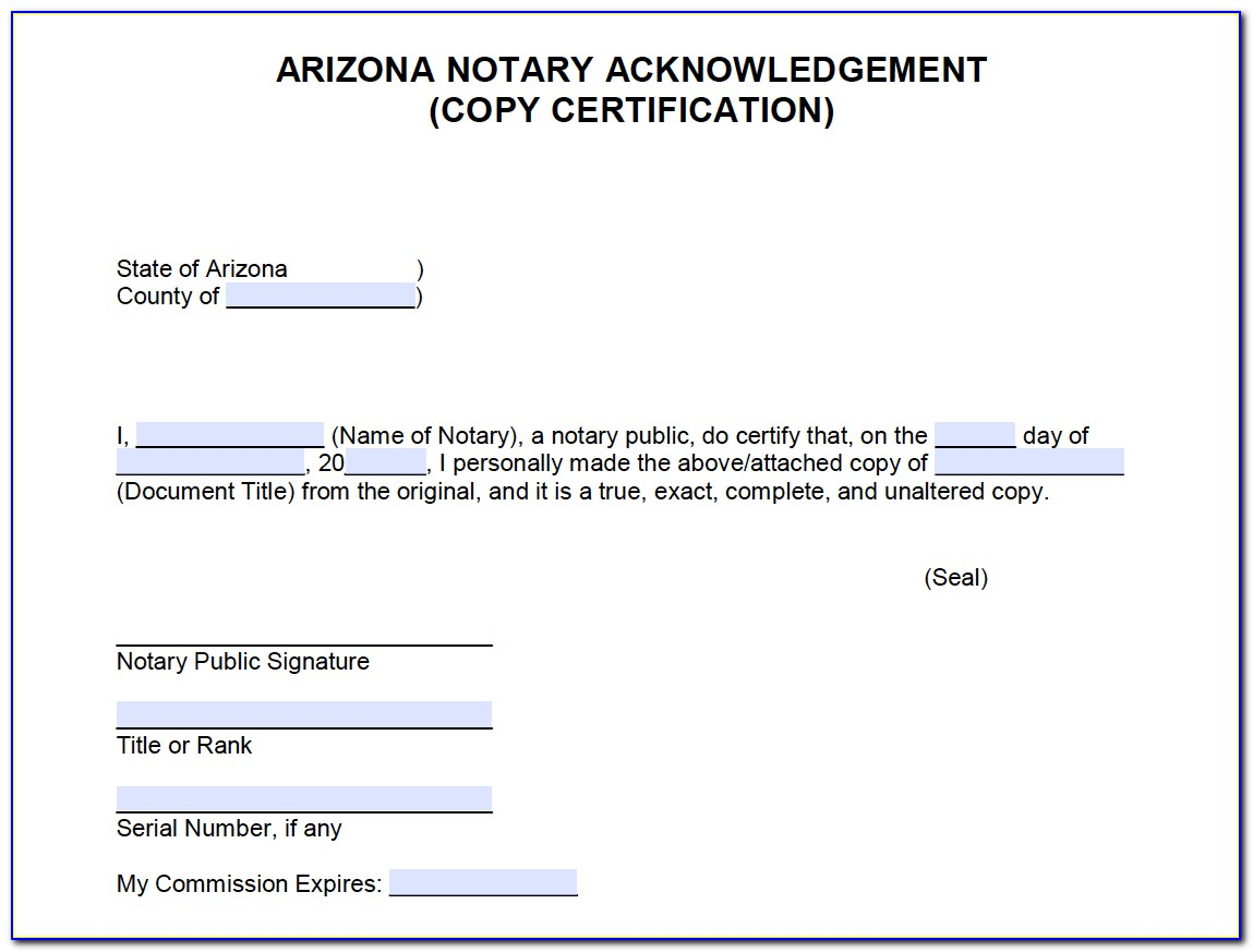 Notary Commission Certificate Florida