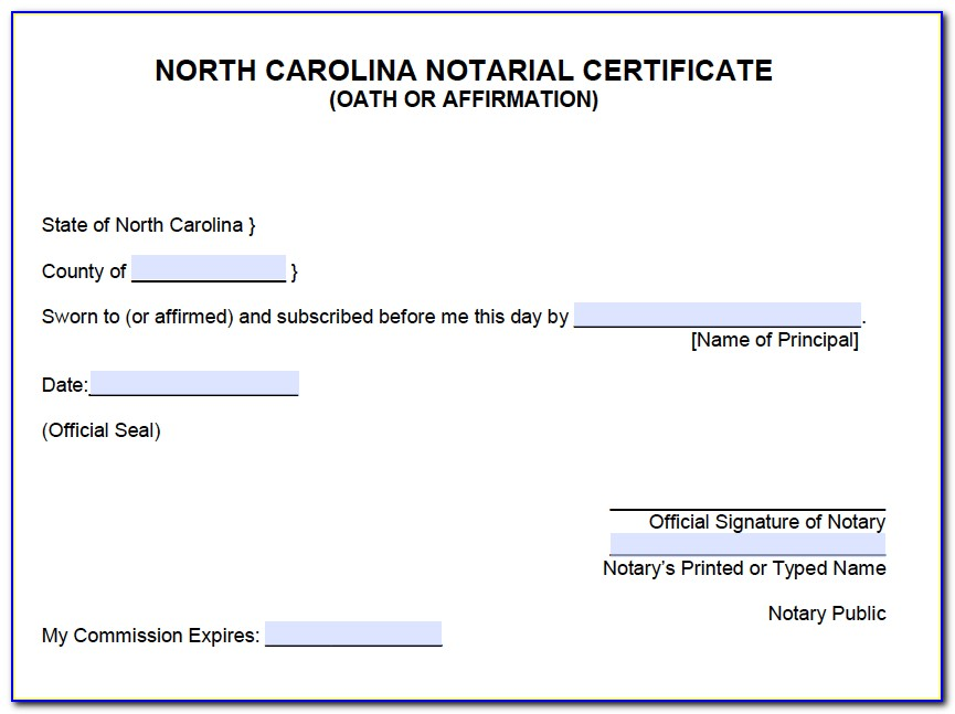 Notary License Nc