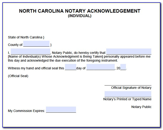 Notary Requirements Nc