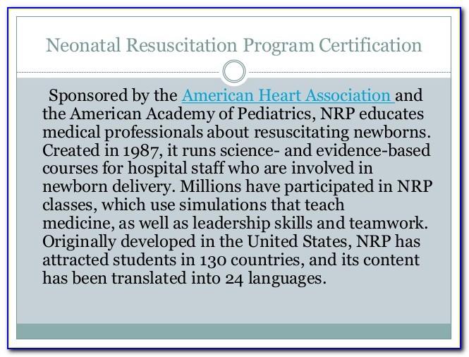 Nrp Certification Online Exam