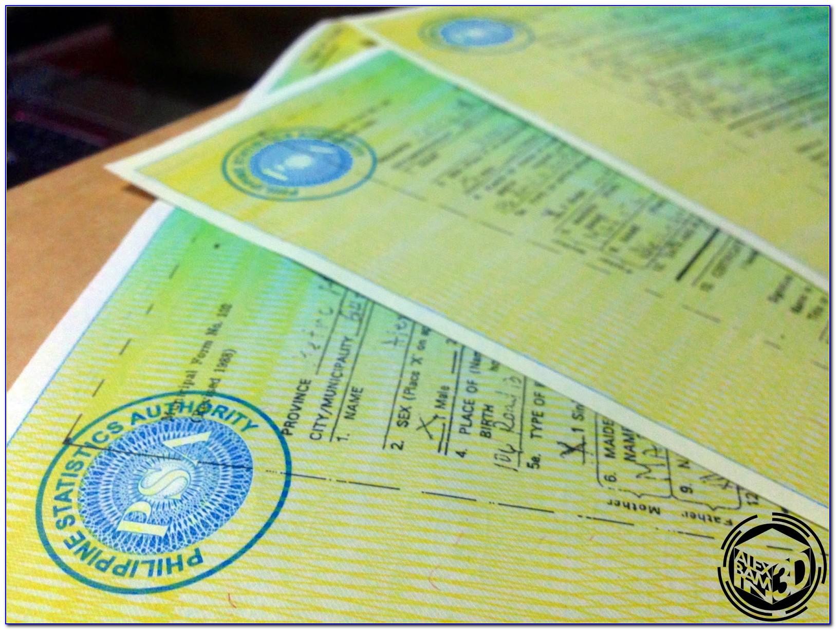 Nso Birth Certificate Find Name