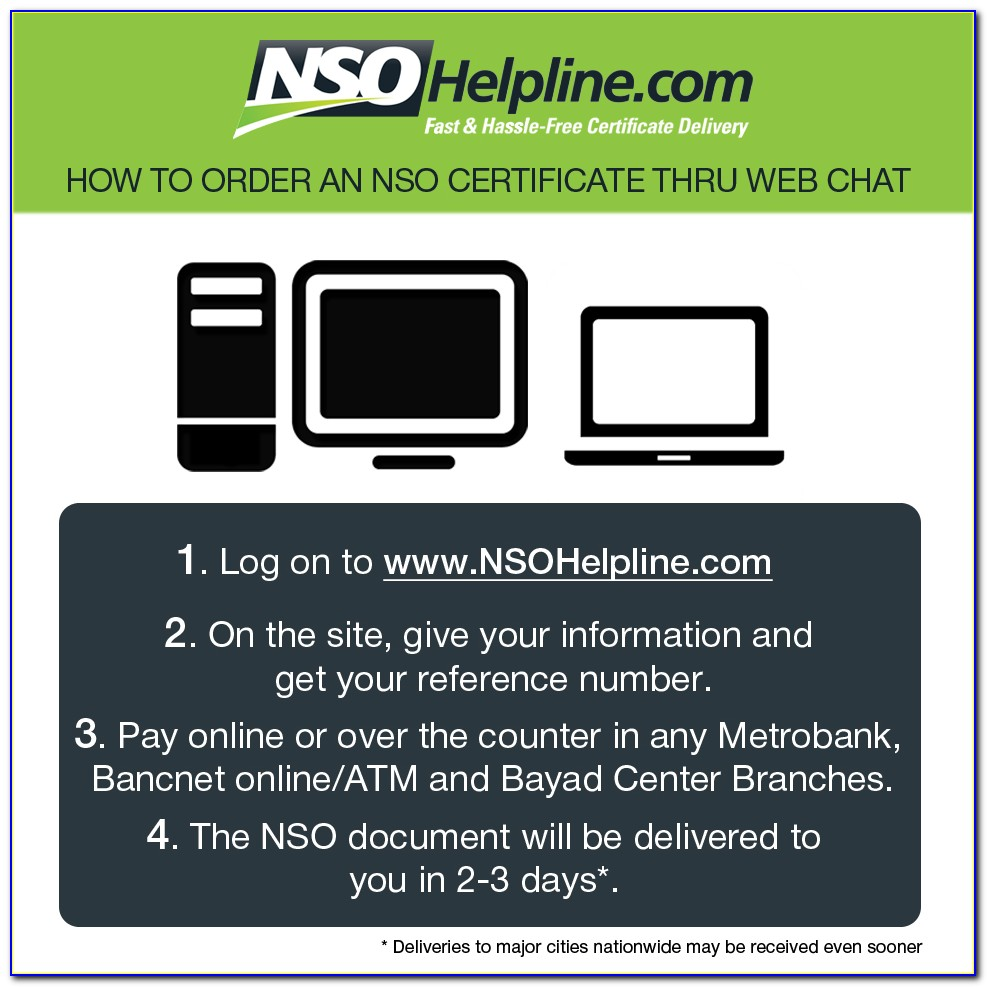 Nso Birth Certificate Form