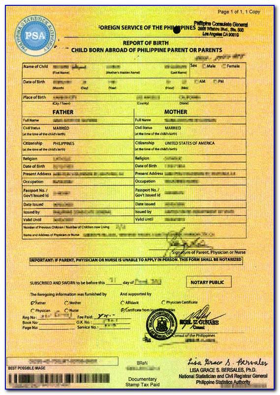 Nso Birth Certificate Philippines Price