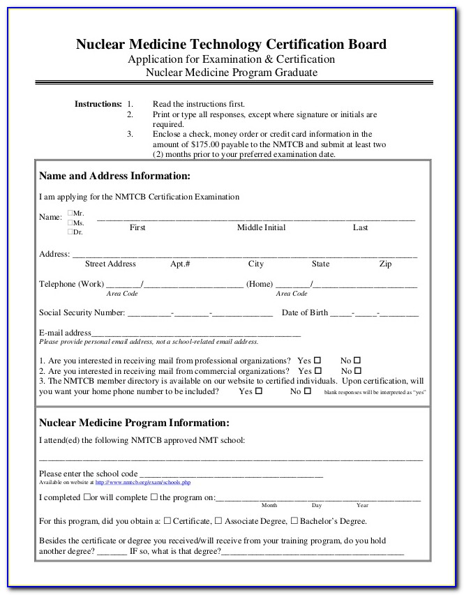 Nuclear Medical Technologist Certification