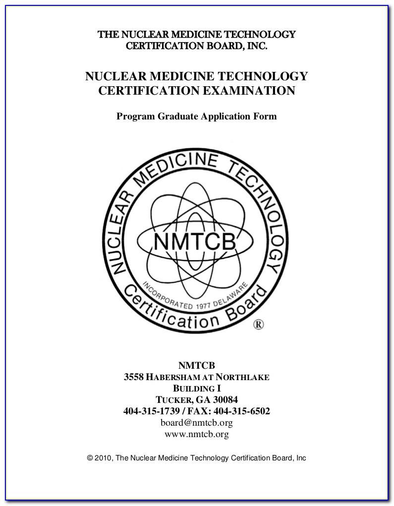 Nuclear Medicine Technologist Certification California