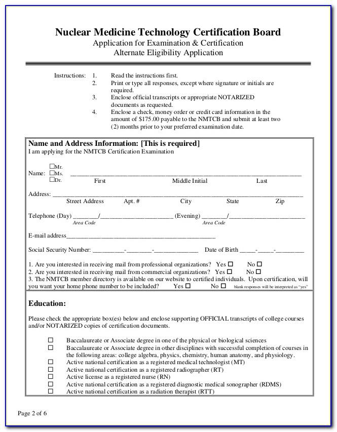 Nuclear Medicine Technologist Certification Program