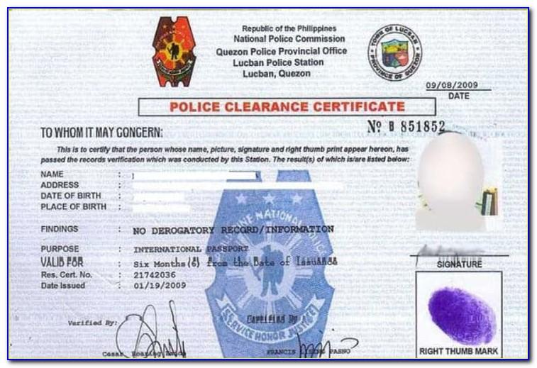 Nvc State Gov Find Police Certificate
