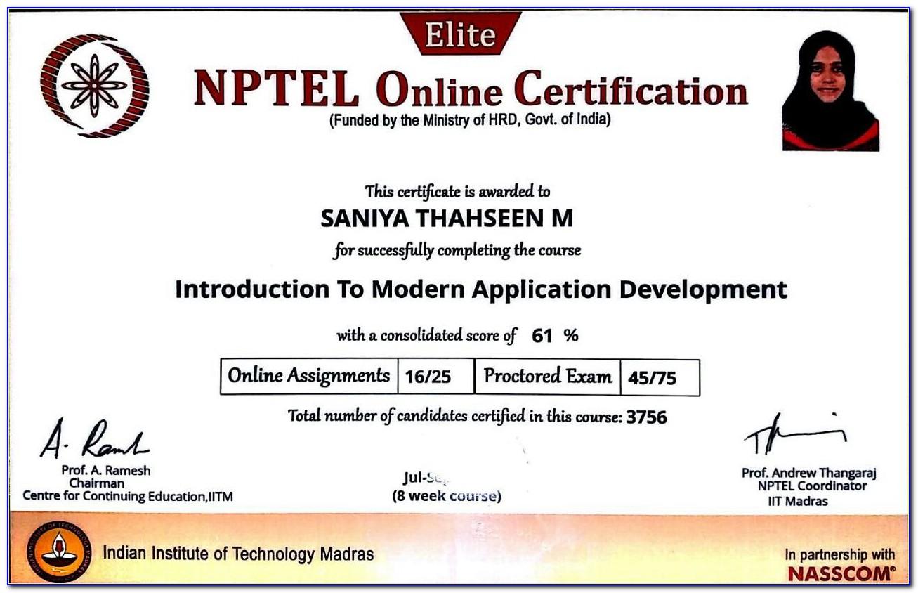 Online Computer Certificate Apply