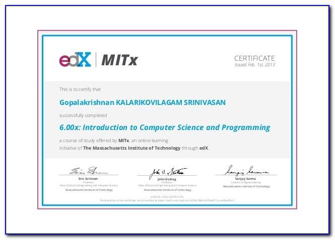 Online Computer Certificate Design