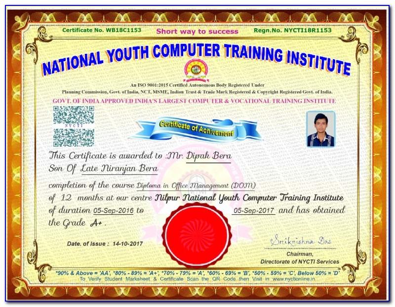 Online Computer Certificate Maker