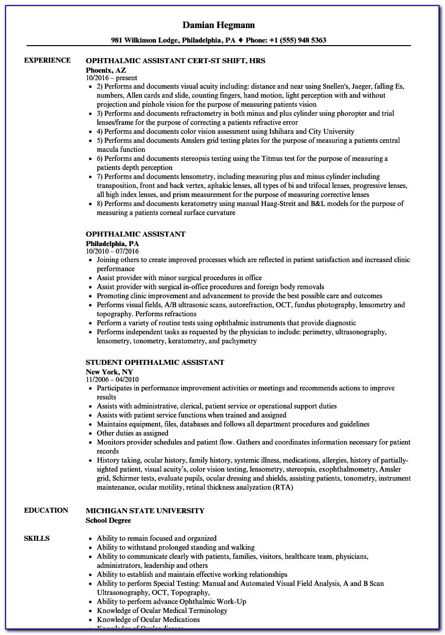 Optometrist Assistant License