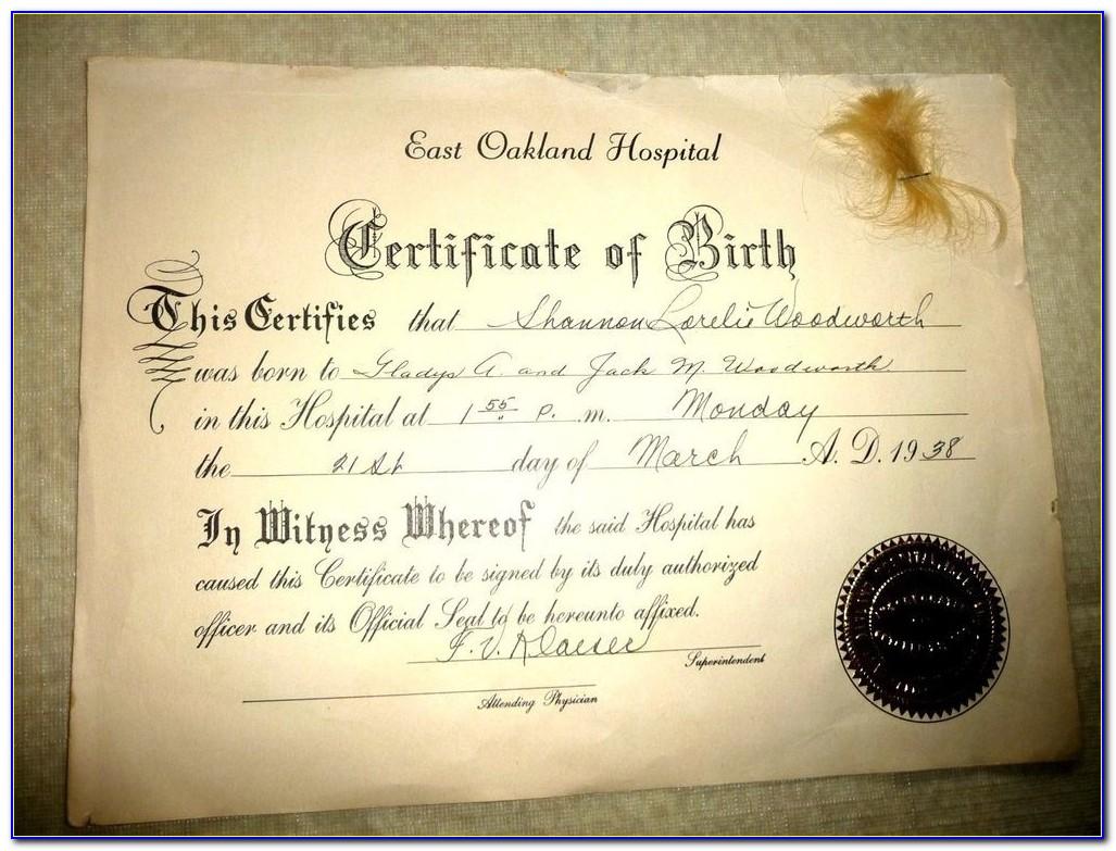 Order My Birth Certificate California