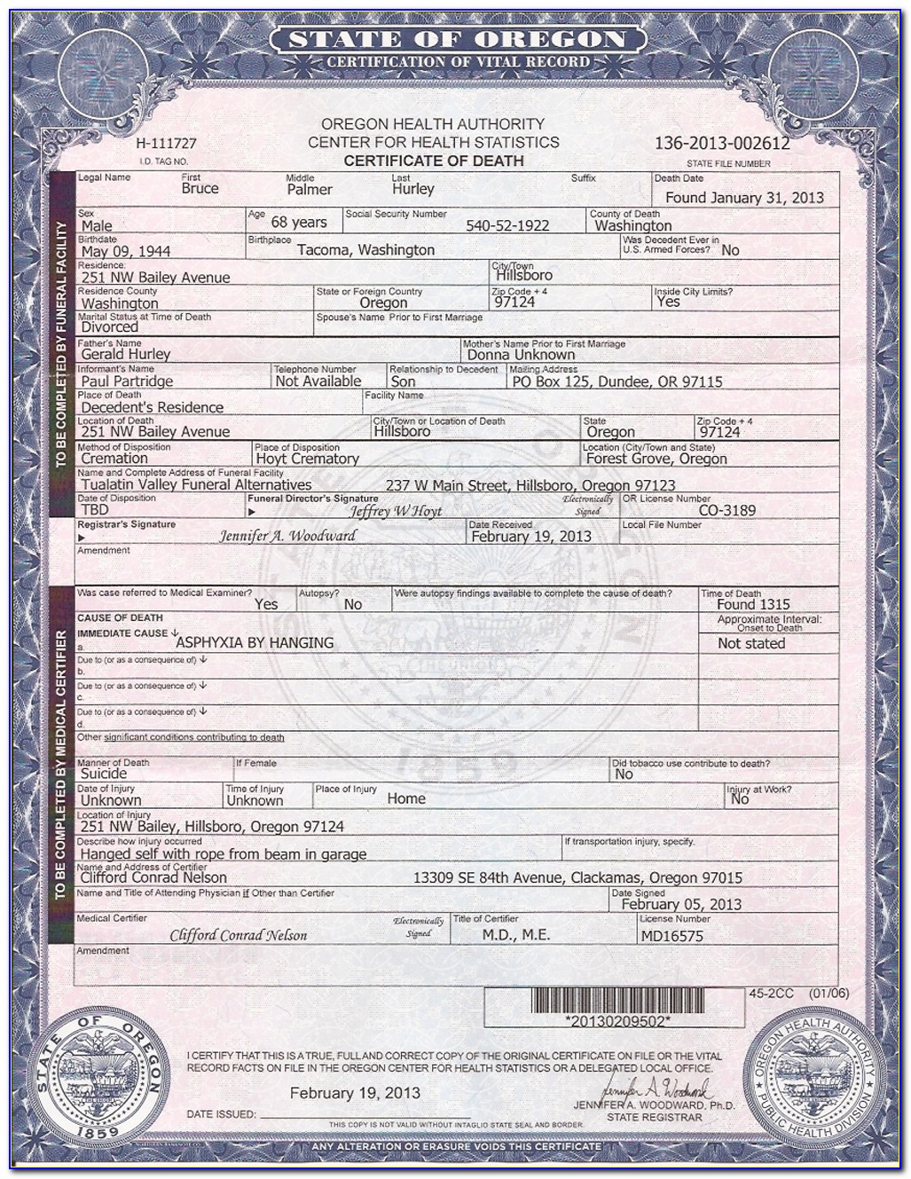 Order Replacement Birth Certificate Maryland