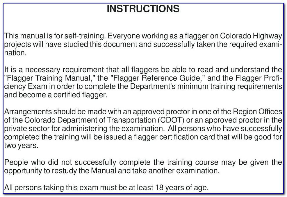 Oregon Flagger Certification Online