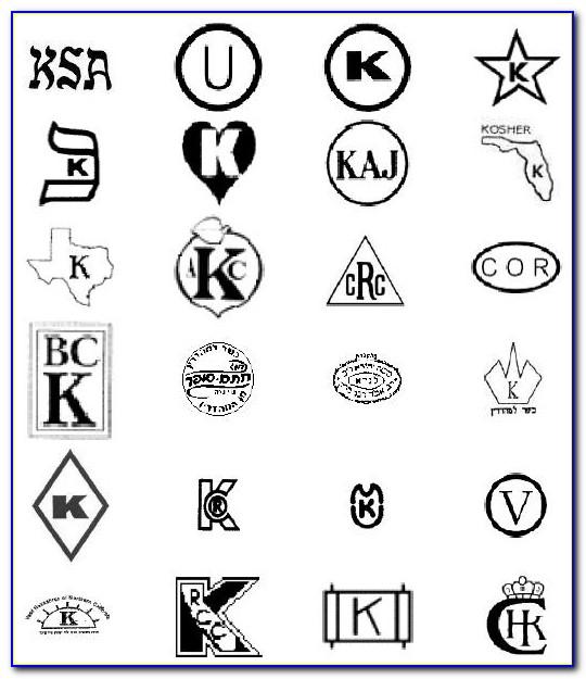 Orthodox Kosher Certification Symbols