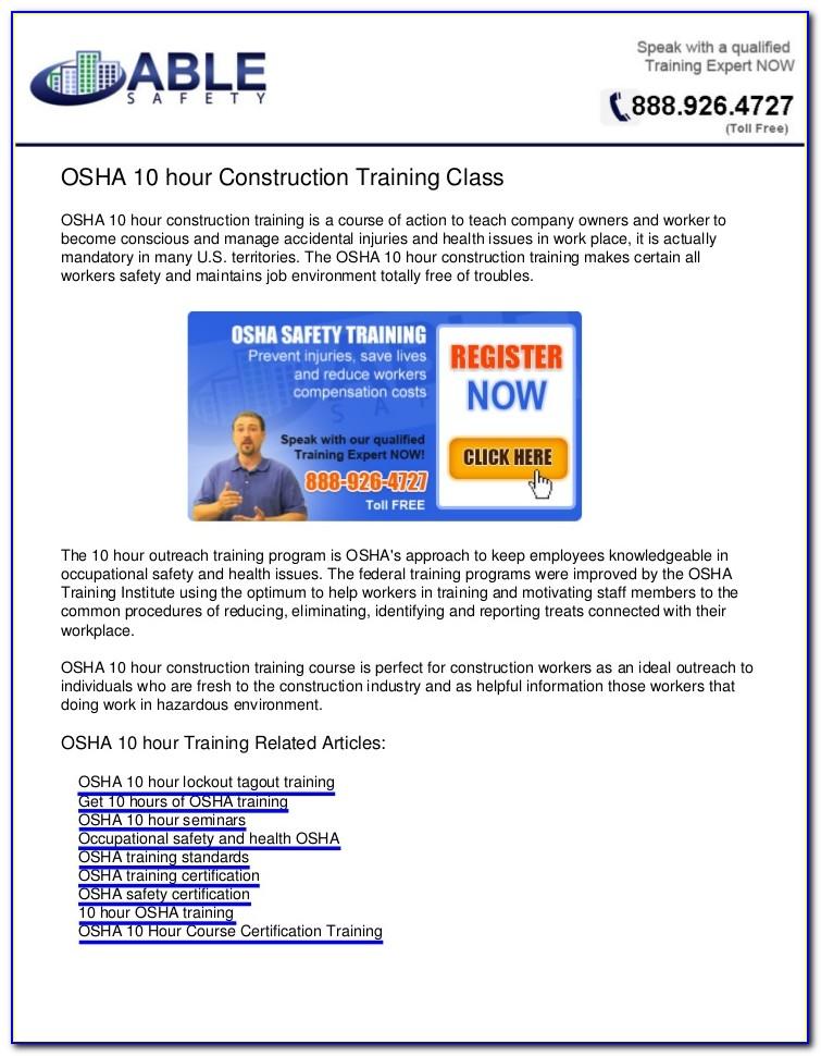 Osha Certification New York