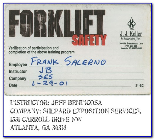 Osha Forklift Certification Las Vegas