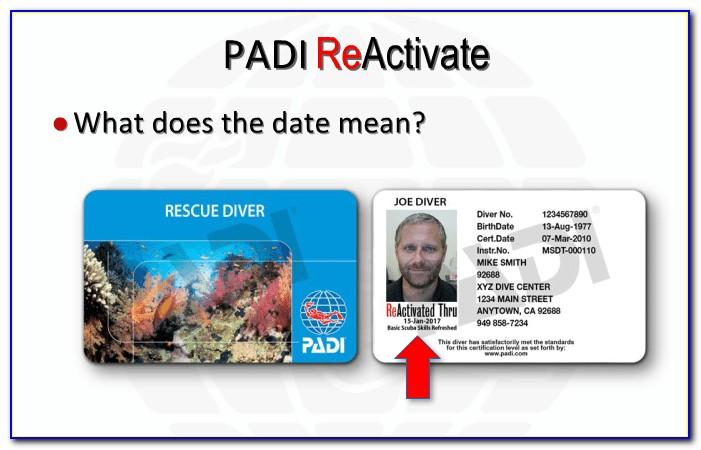 Padi Certification Card Search