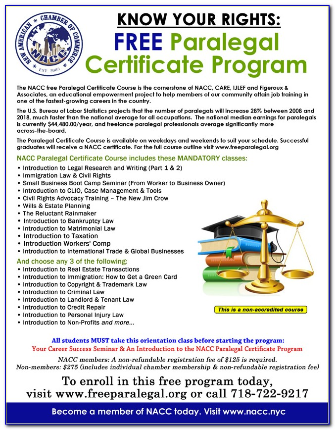 Paralegal Certificate Ny