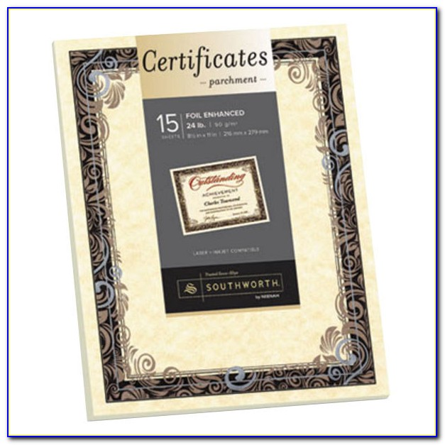 Parchment Paper For Certificates India