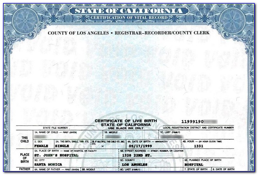 Pasadena Ca Birth Certificate Office