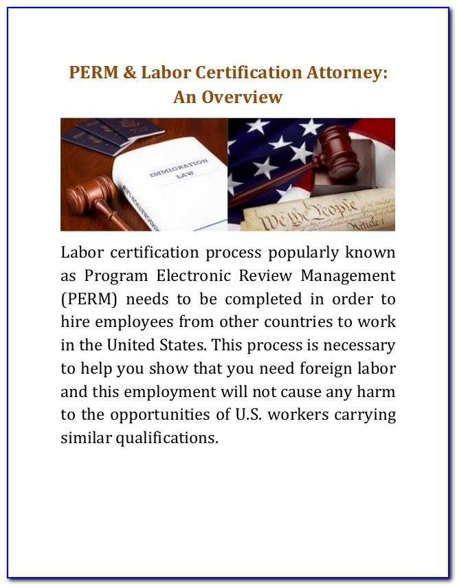 Perm Labor Certification Application Status