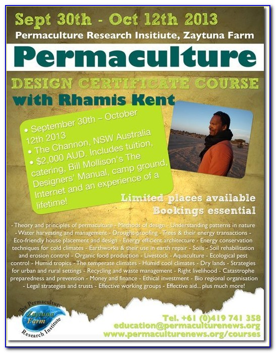 Permaculture Design Certificate (pdc) Course