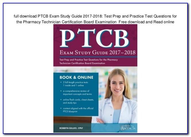 Pharmacy Technician Certification Test Free