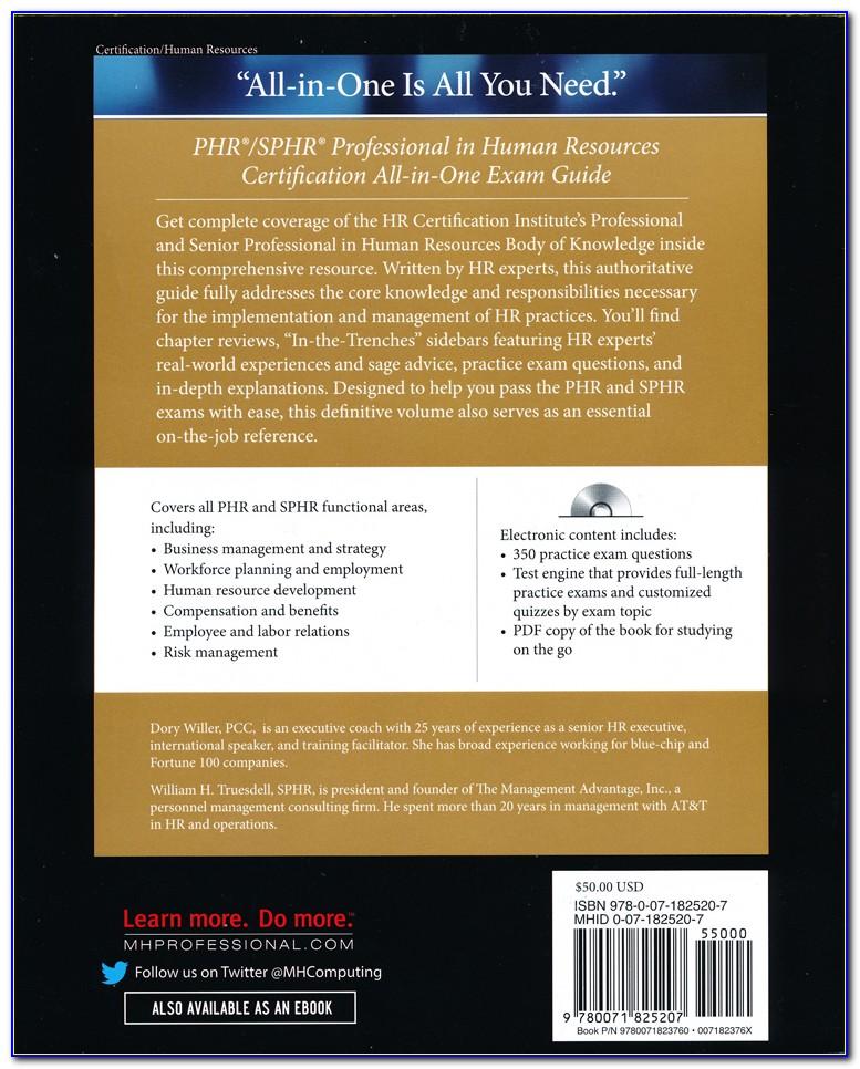Phr Sphr Certification Exam Online
